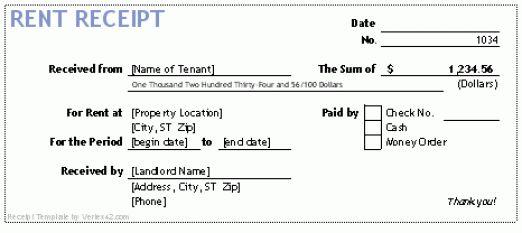 14 Rent Receipt Templates - Excel PDF Formats
