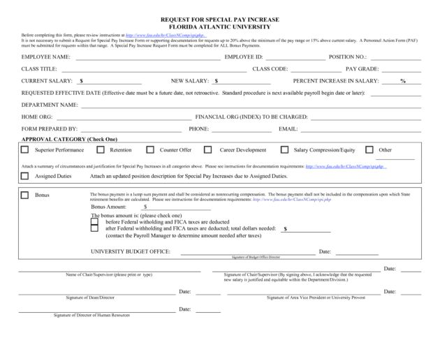 Employee Salary Increase Form : Helloalive