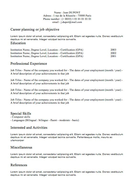 resume example electrical engineering short resume sample resume ...