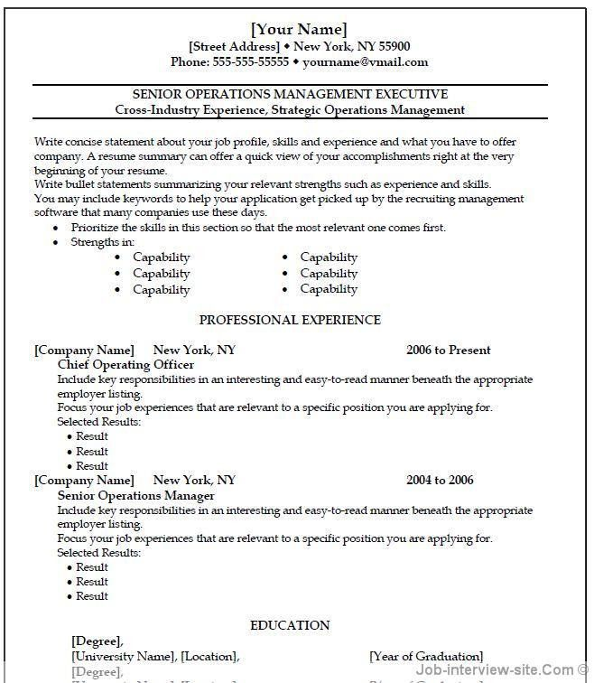Resume Microsoft Word - Resume Example