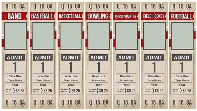 Game Day Tickets: Template Options