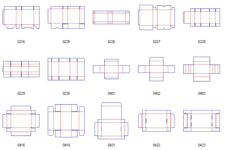 box structure design | Corrugated and folding carton box templates