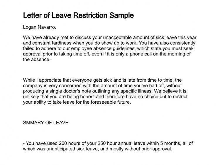 Letter of Leave