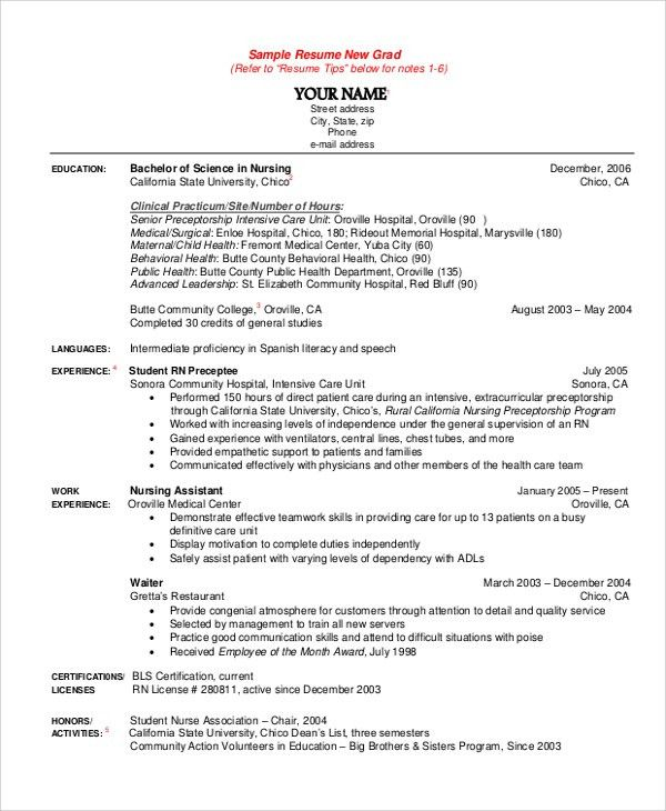 New Grad Rn Resume Examples. Registered Nurse Resume Examples New ...