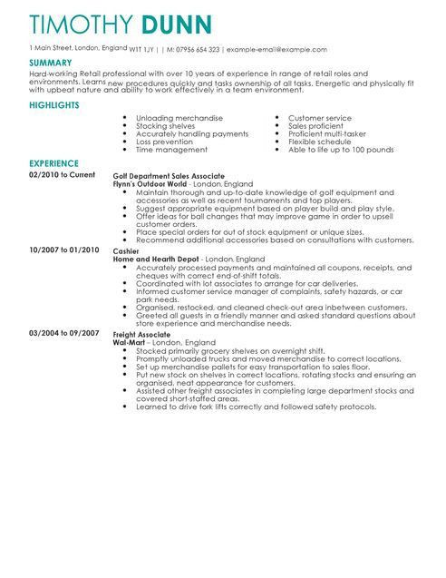 resume samples for retail jobs retail example resume resume