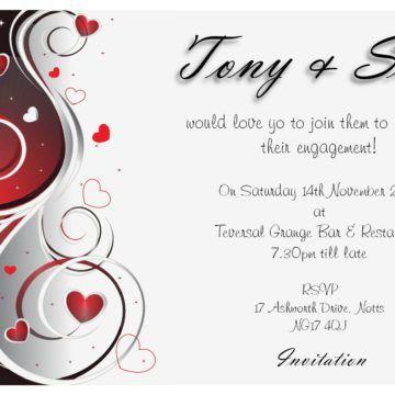 Best Simple Cheap Engagement Party Invitation Card Template Plus ...