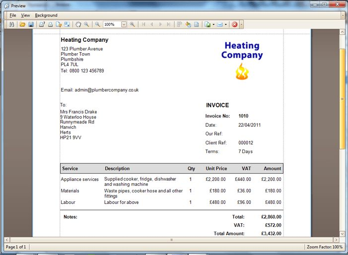 Invoicing, Estimates Software for Plumbers