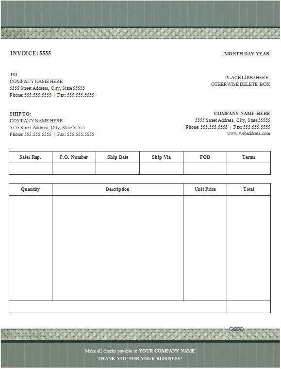 100+ Free Invoice Templates - Word Excel PDF Formats