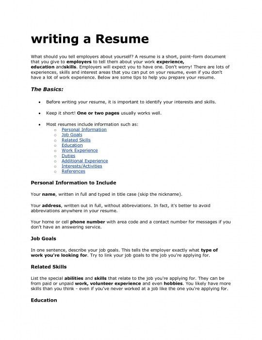 What Should Be Included In A Resume 8 Pleasant Design What Should ...