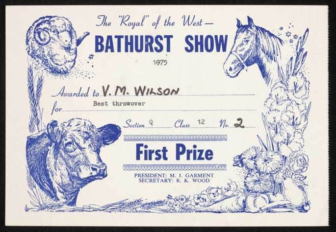 Prize certificates | National Museum of Australia