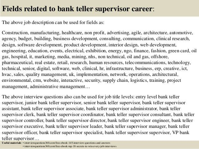 interview questions for a bank teller