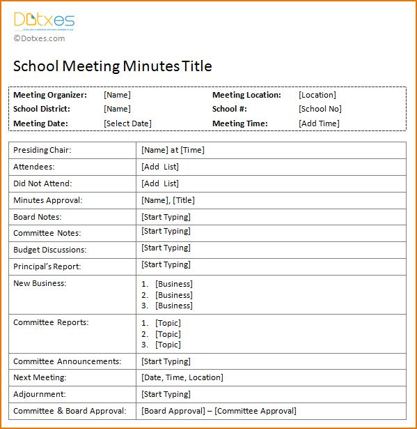 4+ meeting minutes template free | teknoswitch