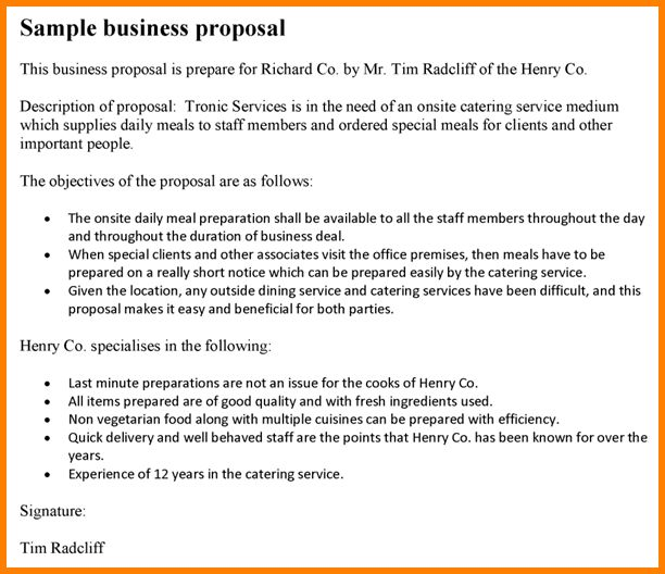 11+ business proposal format samples | Proposal Template 2017
