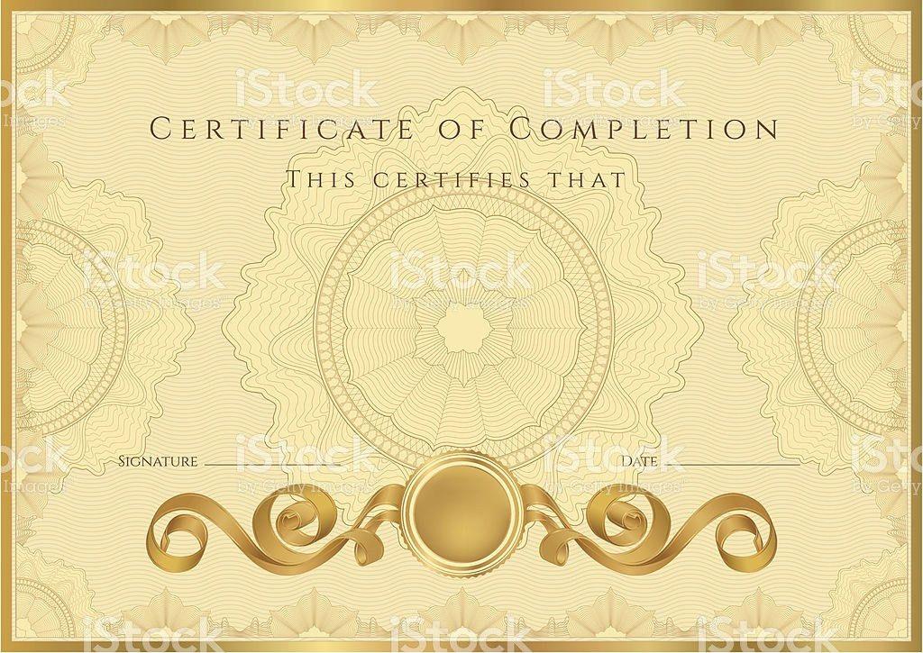 Gold Certificate Diploma Coupon stock vector art 188097607 | iStock