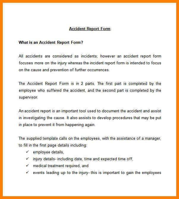 8+ sample of incident report letter template | farmer resume