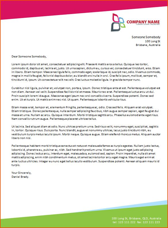 6+ microsoft word business letter template - bookletemplate.org