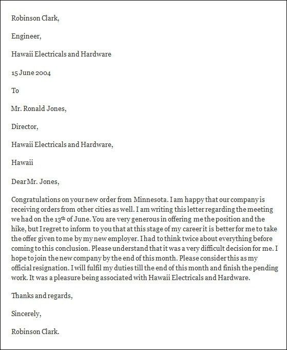 Formal Resignation Letter 16 Download Free Documents In Word Pdf ...