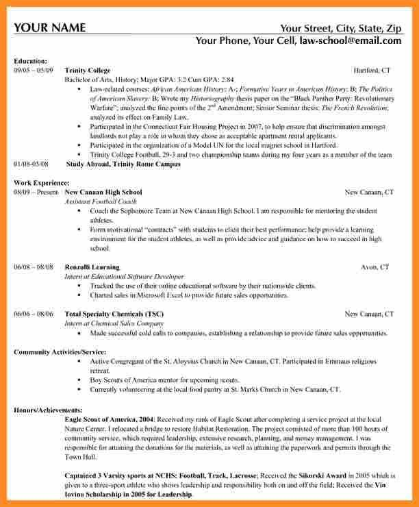 nyu law resume format lovely law school resume format template