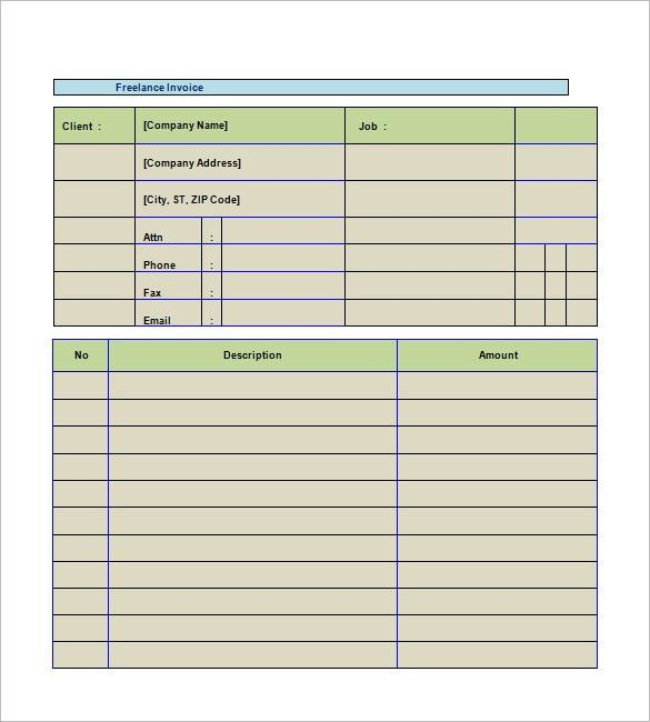 Freelancer Invoice Template – 8+ Free Word, Excel, PDF Format ...