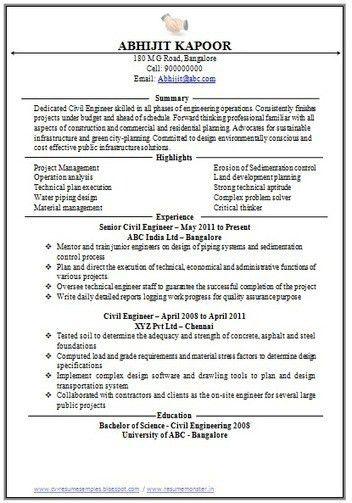 civil engineering student resume httpwwwresumecareerinfocivil ...