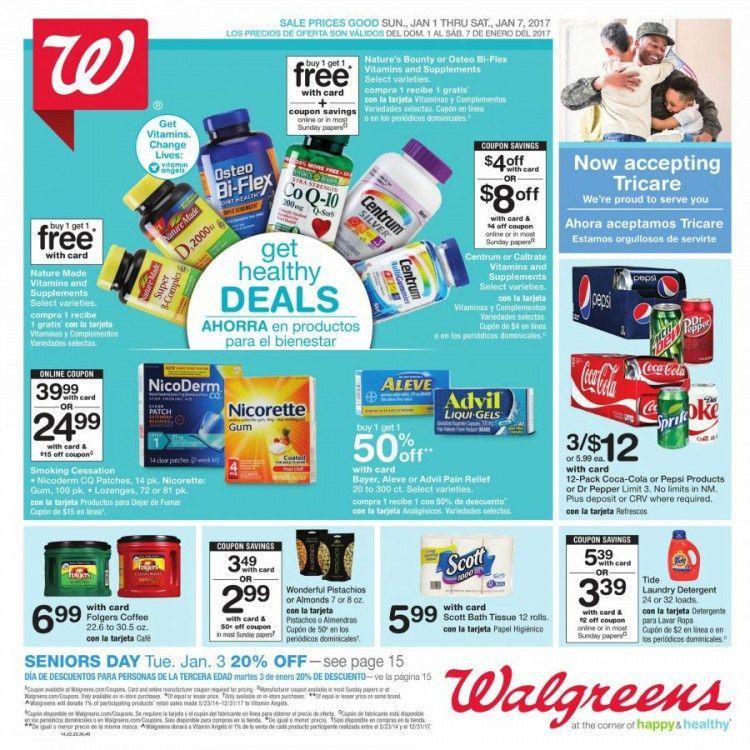 walgreens weekly ad flyer 1/1/17 to 1/7/2017 - weekly ads