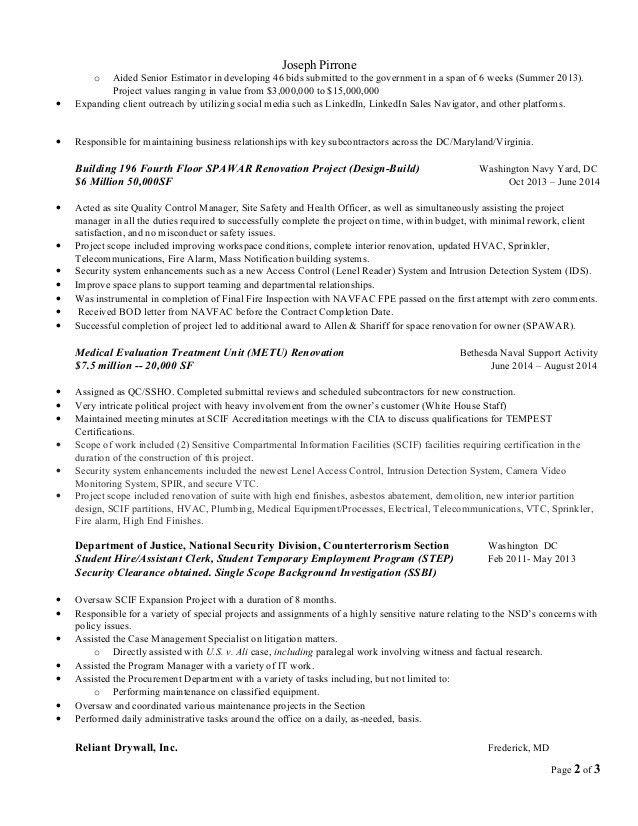 Resume joseph pirrone_11-2014