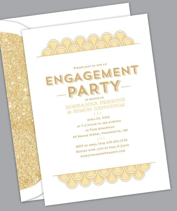 Let the Celebrations Begin! Engagement Party Invitations