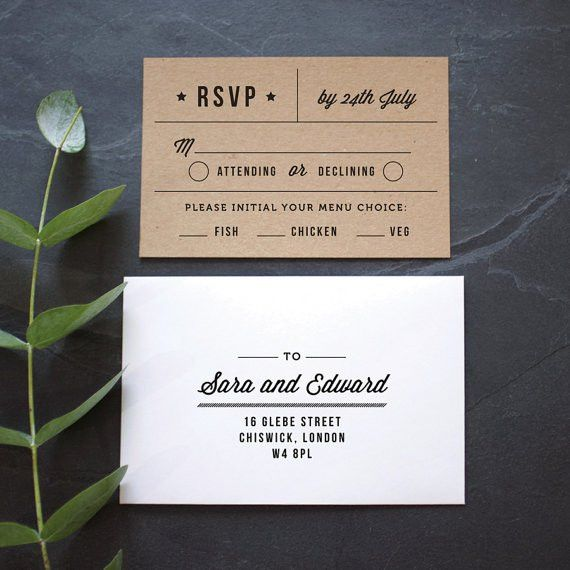 Rustic Recycled Ticket Wedding Invitation / 'Just the