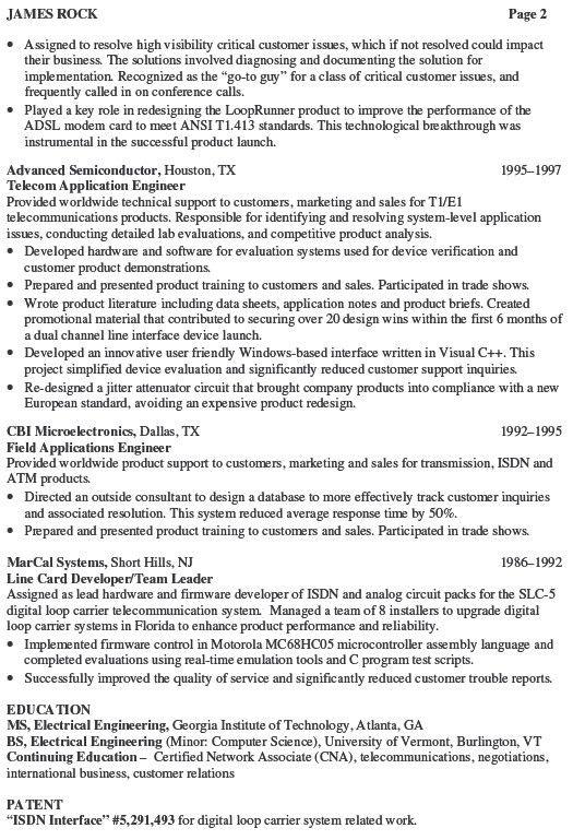 hardware engineer resume sample hardware engineer resume
