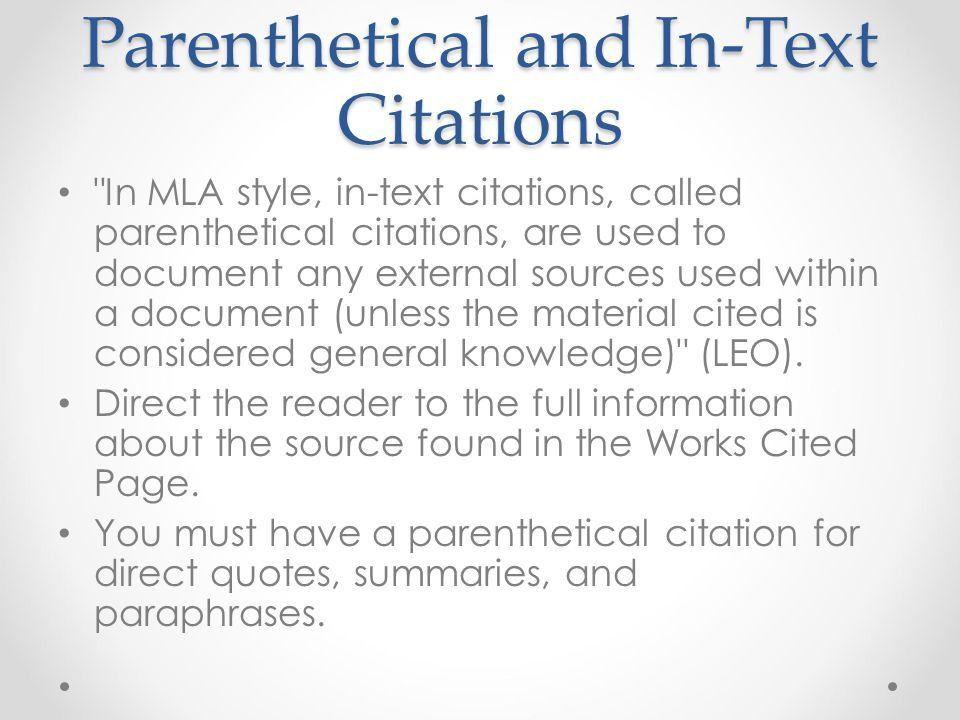 MLA Citations Sabrina Moreland. - ppt video online download