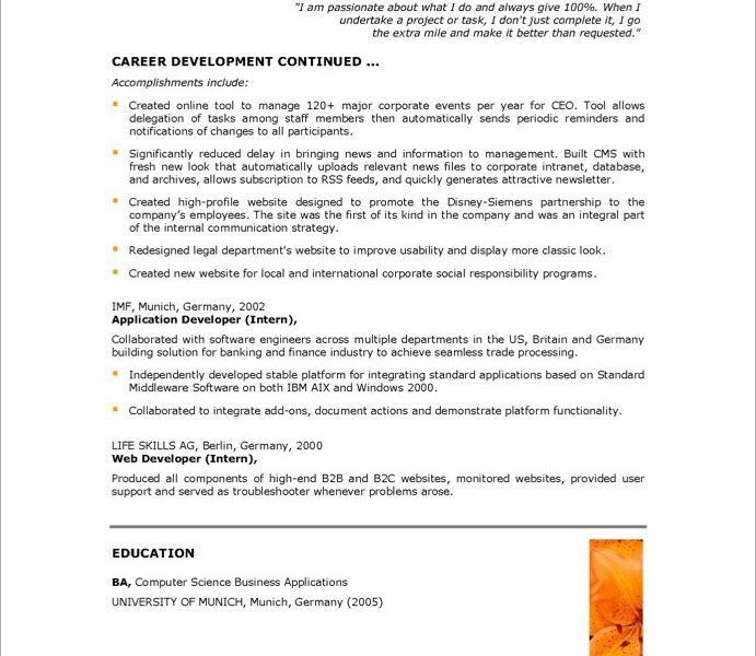 Cool Idea Web Developer Resume 14 Senior Web Developer Resume ...