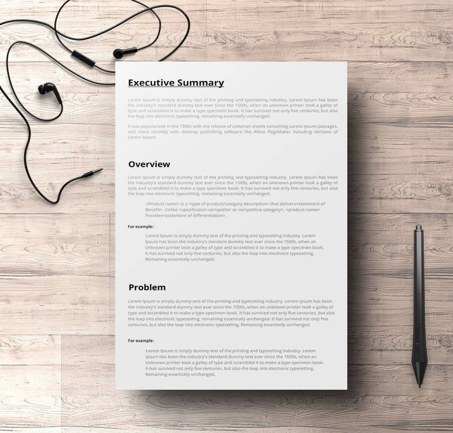 9+ Free Executive Summary Templates - Business, Industry ...