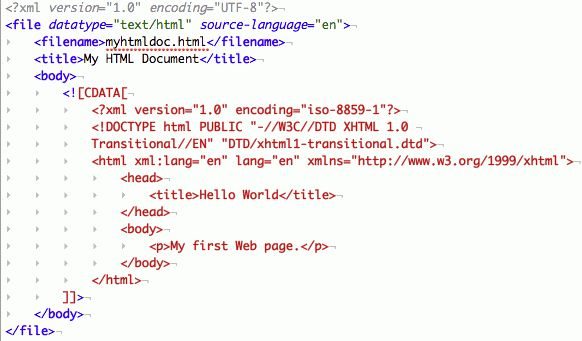 Working with Embedded CDATA in XML Documents