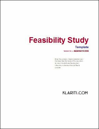Sample Feasibility Study Template Phase during Software De… | Flickr