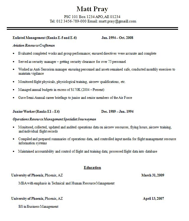 free military resume templates free veteran resumes veteran resume ...