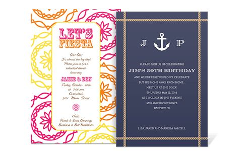 Sample Party Invitation Wording | cimvitation