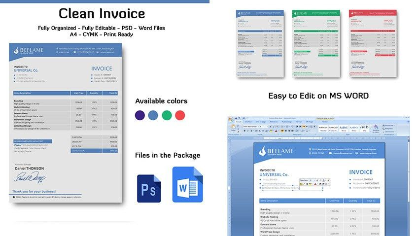 15 Simple Invoice Templates: Made For Microsoft Word