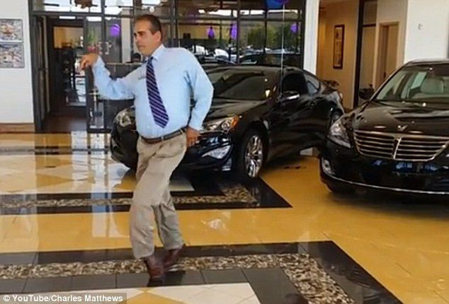 They'd do anything for a sale! Hyundai manager shows off his old ...