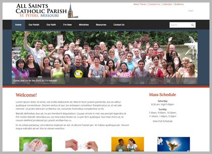 Best Catholic Website Templates and Themes | Connecting Members