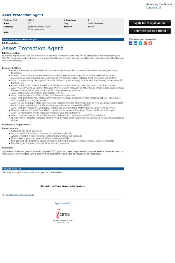 Asset Protection Agent job at Rite Aid in Fresh Meadows, NY ...