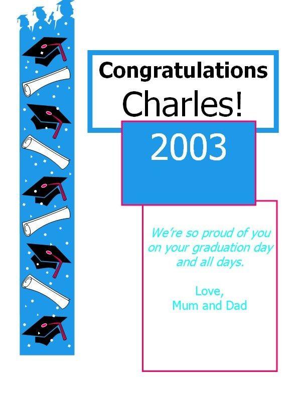 Congratulations Card Template - Excel PDF Formats