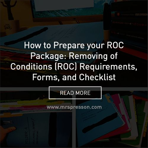 How to Prepare your ROC Package: Removing of Conditions (ROC ...