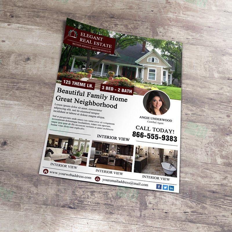 Elegant Open House Flyer Template – Real Estate Lead Generator