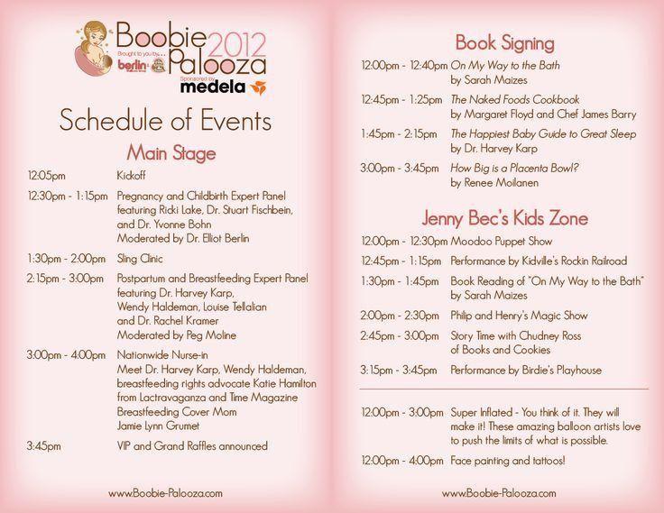 Baby Shower Schedule | Sorepointrecords