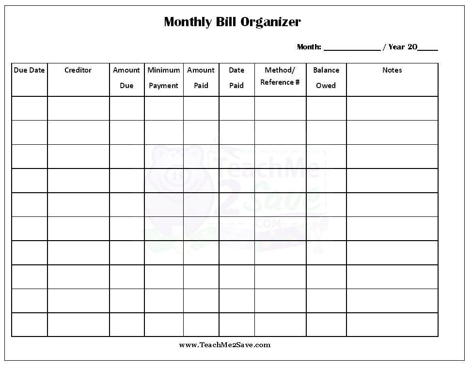 Bill Calendar Template. Printable Bill Pay Checklist August 2017 ...