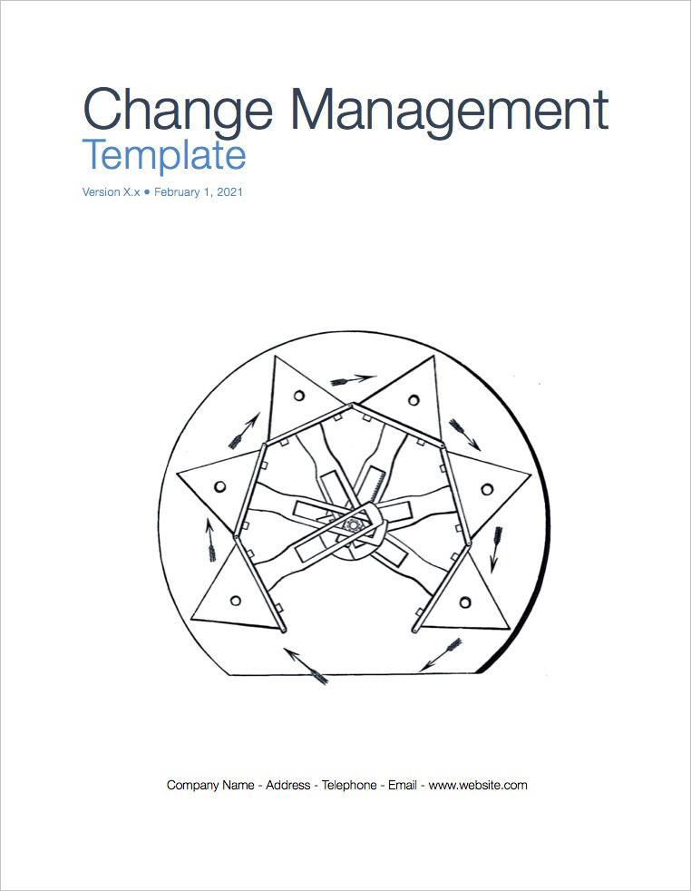 Change Management Plan Template (Apple iWork Pages)
