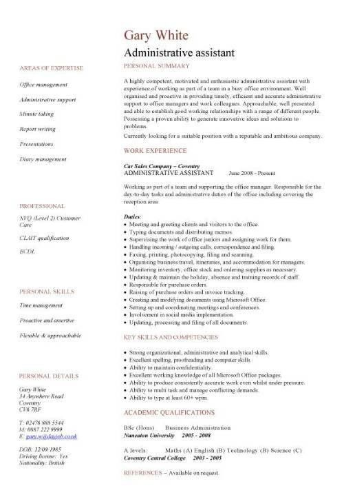 dental front office resume sample and Medical Administrative ...