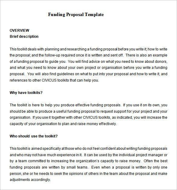 Fundraising Proposal Template Sample. Film Funding Proposal Pdf ...