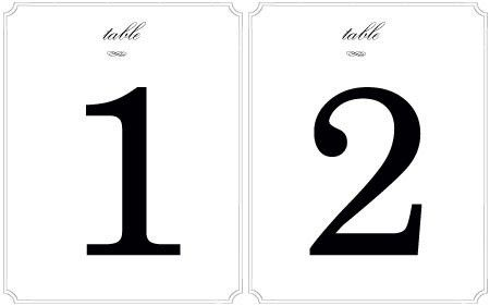 Wedding Decor: Fun Table Number Ideas!