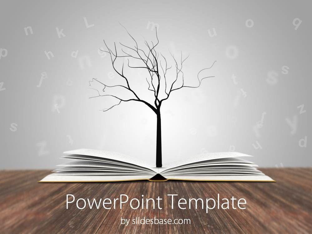 Knowledge Tree PowerPoint Template   Slidesbase